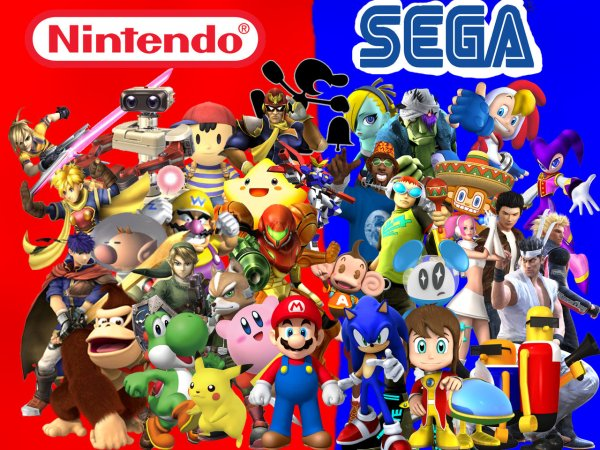 Nintendo_and_Sega_Group_Pic_by_Mazznick